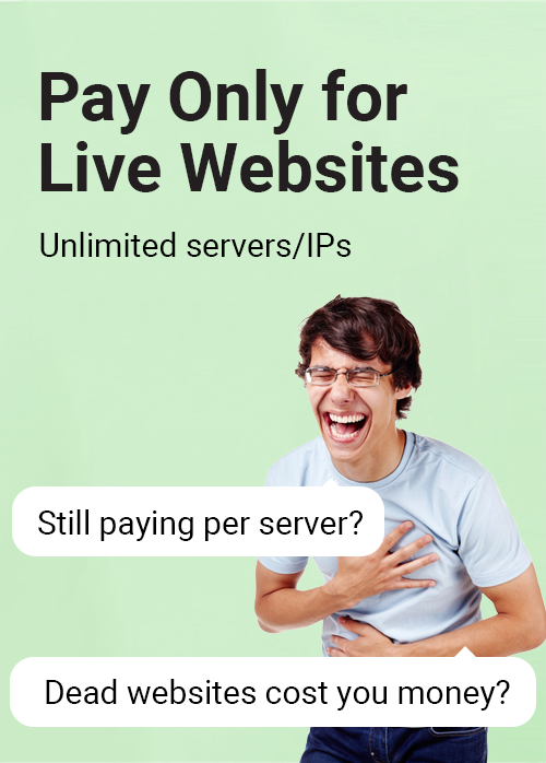 Pay only for live websites